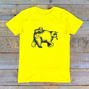 bearicorn yellow kids tee