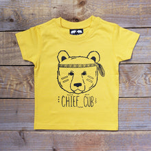 native american kids bear tee