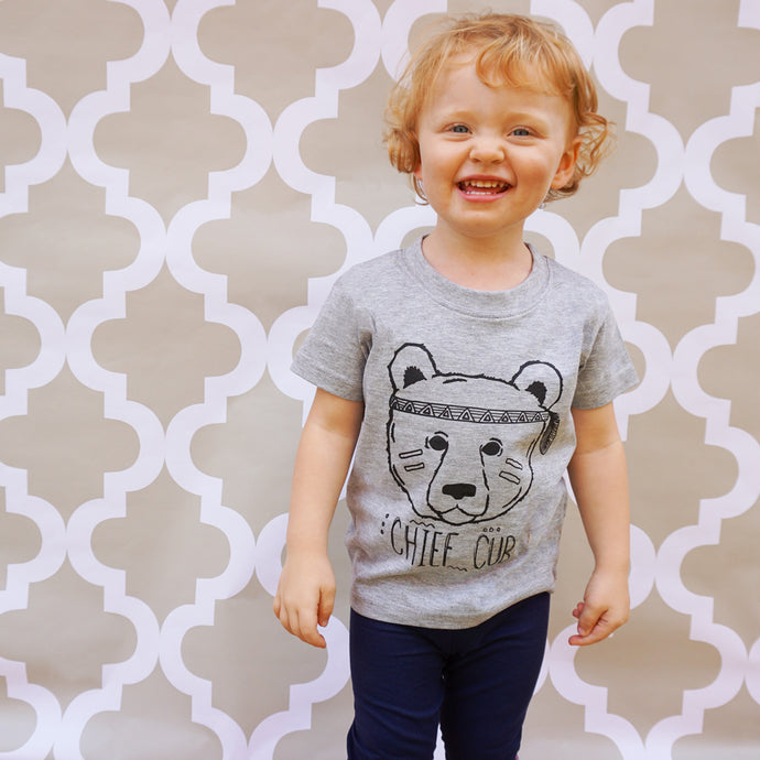 chief cub grey t-shirt