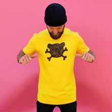 yellow crossbones t-shirt