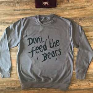 don't feed the bears logo sweater