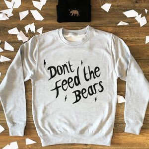 don't feed the bears brand jumper