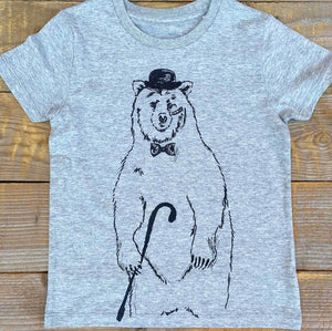 disguise bear kids tee close up shot