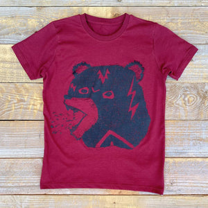 mexican wrestle mask bear kids t-shirt