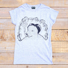 bear in head scarf t-shirt