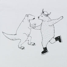 ICE SKATING BEAR AND T-REX TEE