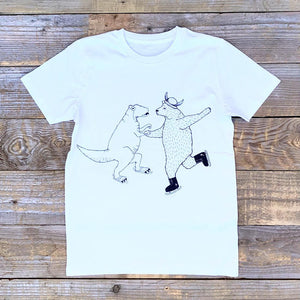 ice skating kids tee