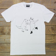 ice skating white tee