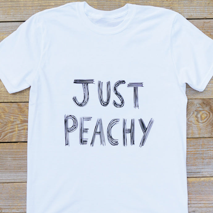 Just Peachy White T-shirt