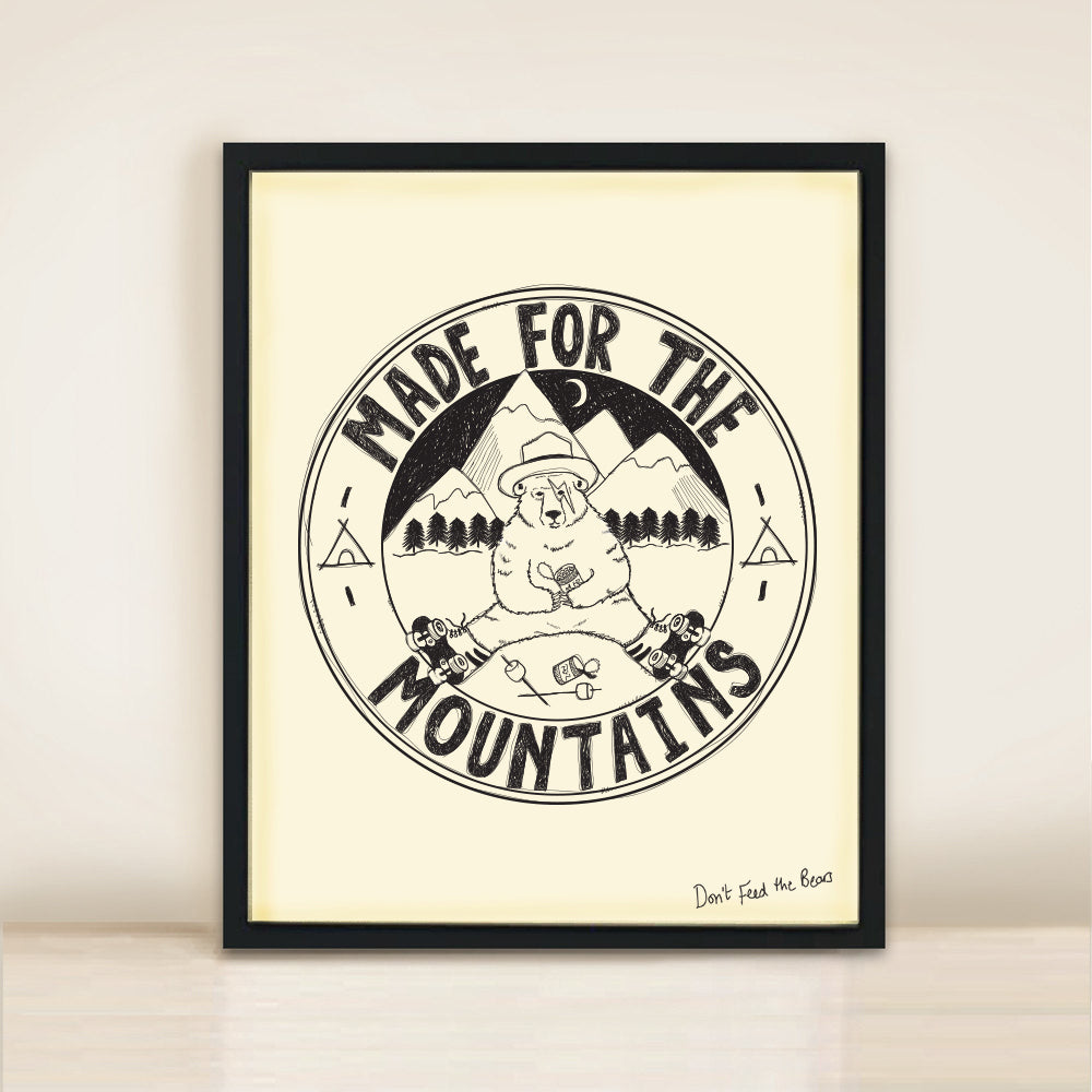 'Made in the Mountains' Poster Print A3