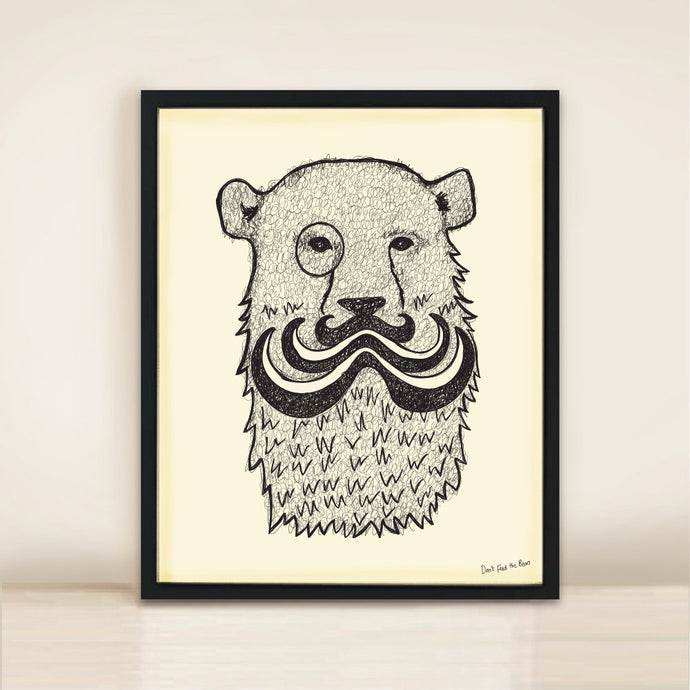 'Major Tash' Bear Poster Print A3