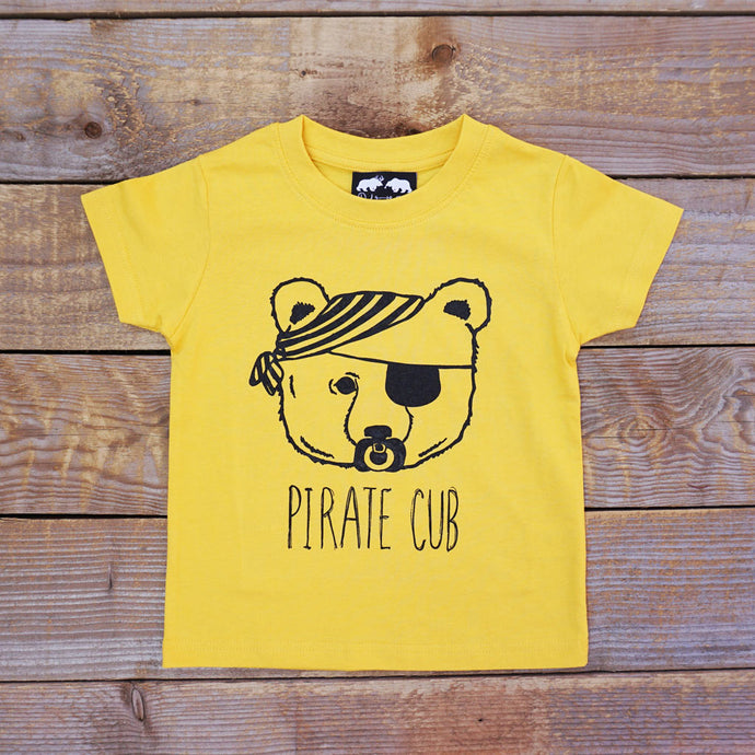 yellow pirate cub t-shirt