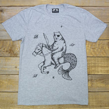 bear riding merhorse t-shirt