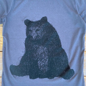 sitting bear kids tee close up