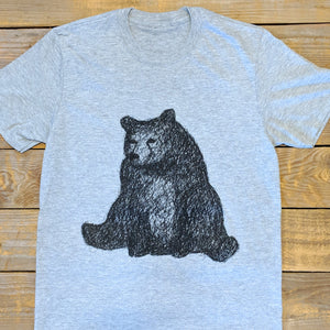 SITTING BEAR GREY TEE