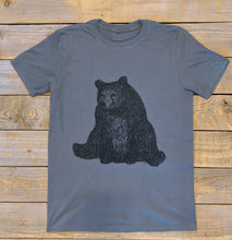 SITTING BEAR CHARCOAL T-SHIRT