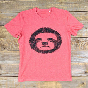 sunset red sloth t-shirt