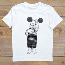white strong bear t-shirt