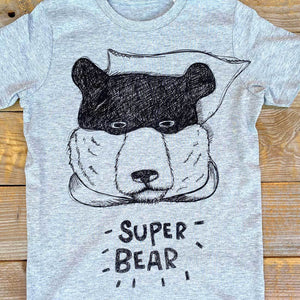 super bear cubs t-shirt in grey