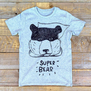 Super Bear Kids grey tee