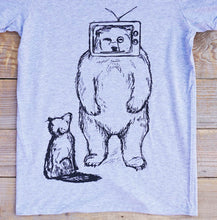 tv bear tee close up