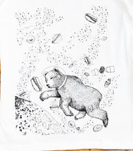 bear in space women's t-shirt