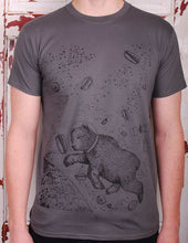 astronaut bear charcoal t-shirt