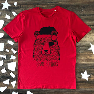 bear humbug red t-shirt