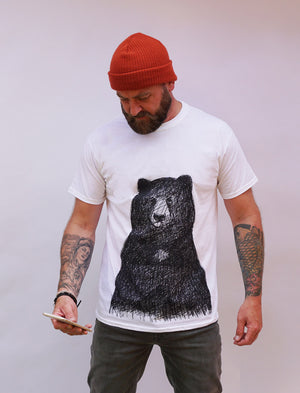 BIG BEAR WHITE T-SHIRT WORN
