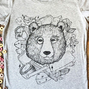 chef bear close up t-shirt photo