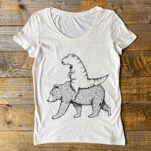 t-rex and bear t-shirt