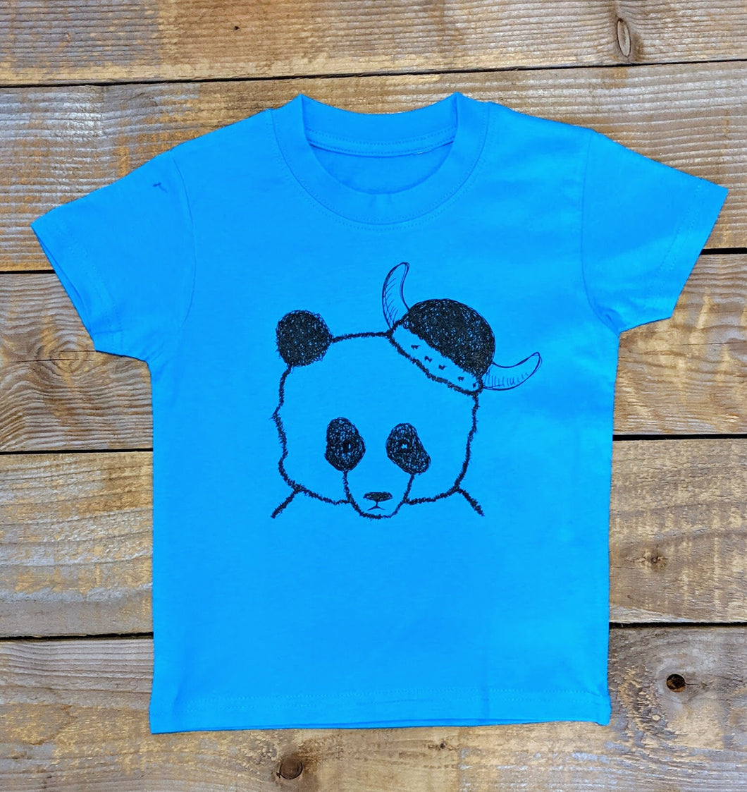 Panda warrior Kids T-Shirt