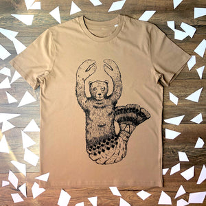 lobster bear brown t-shirt