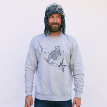 narwhal grey jumper being worn