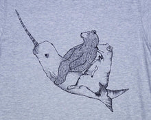 grey narwhal shirt