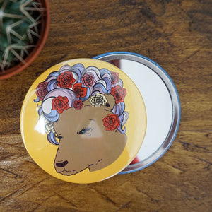 Bear n Roses Pocket Mirror