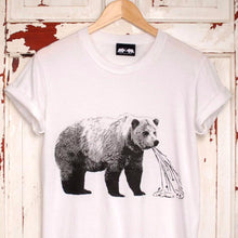 sick bear white t-shirt