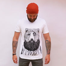 bear with beard t-shirt