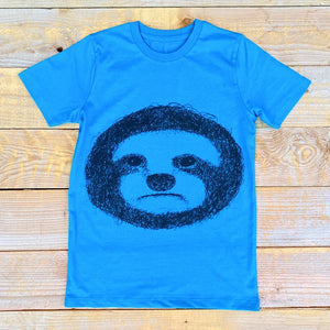 sloth kids tee blue