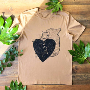 squirrel t-shirt brown