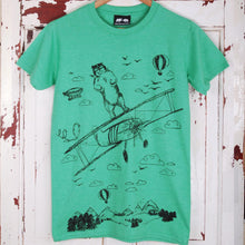 take off bear t shirt green