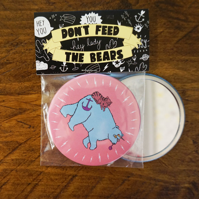 Unicorn Bear Pocket Mirror