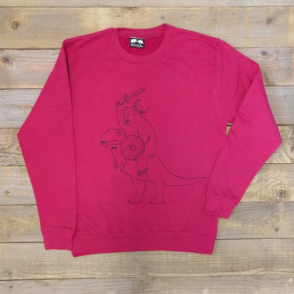 bear and t-rex sweater
