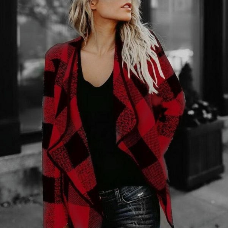 Samantha Plaid Coat