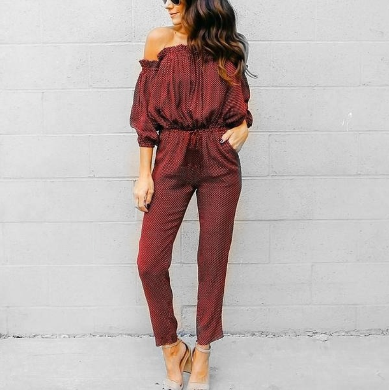 Dot Long Jumpsuit