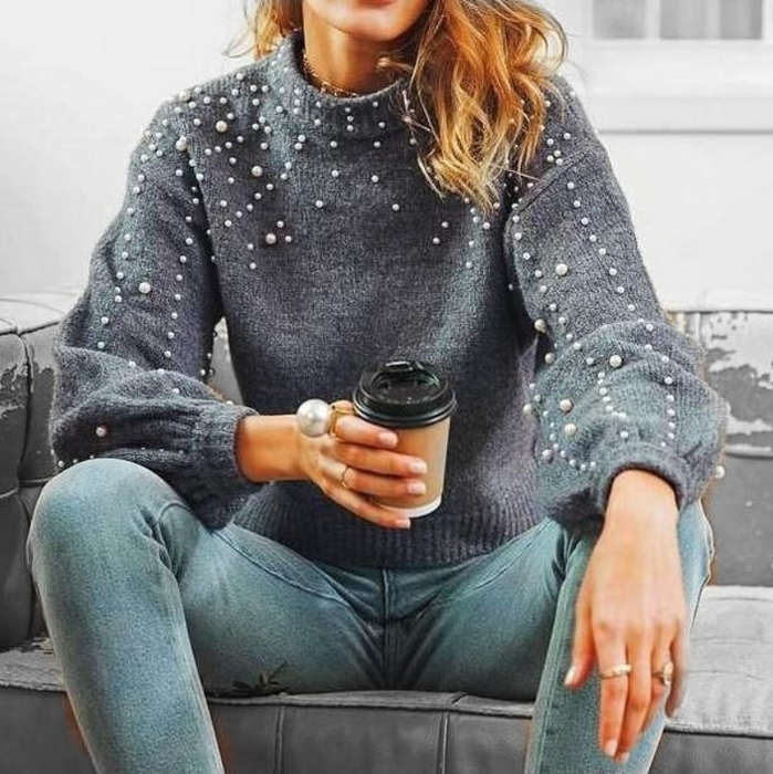 Pearl Turtleneck Sweater