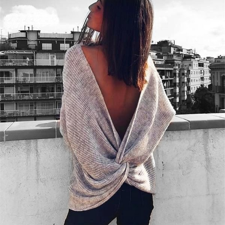 Caroline V Neck Sweater