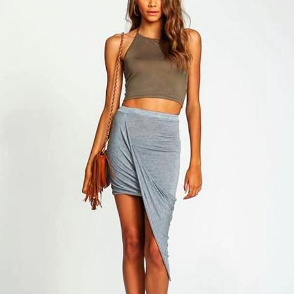 Cross Fold Skirt