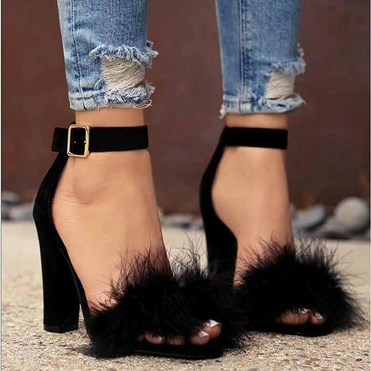 Claire Fluffy Heels
