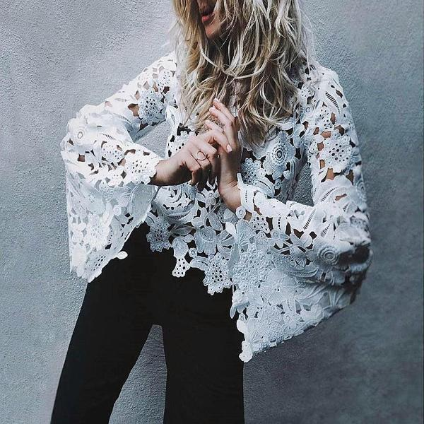 Flare Lace Blouse